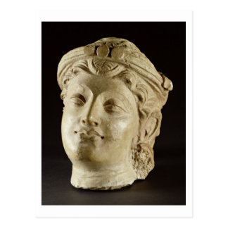 Stucco head, Gandhara, 4th century AD Postcard