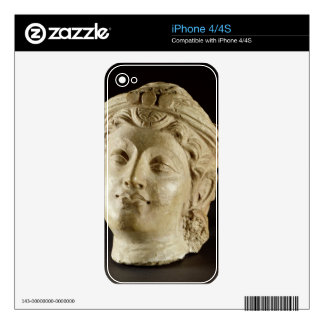 Stucco head, Gandhara, 4th century AD Skin For iPhone 4