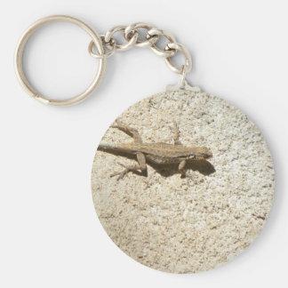 Stucco lizard keychain