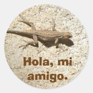 Stucco lizard sticker