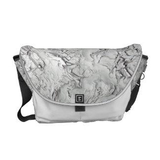 Stucco Pattern Messenger Bag