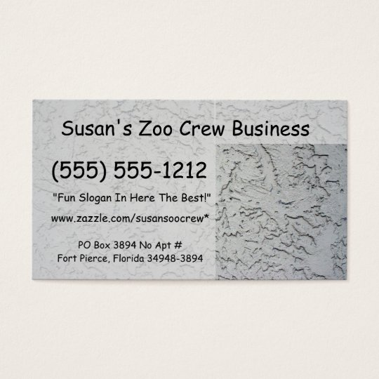 Stucco plaster wall background texture business card