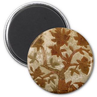 Stucco tree 2 inch round magnet