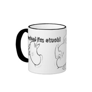 stuck ammerphein, awies! i'm stuck! ringer mug