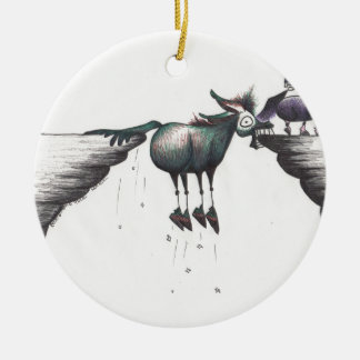 Stuck between a Rock and a Hard Place!!! Double-Sided Ceramic Round Christmas Ornament