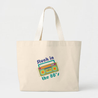 Stuck In 80s Large Tote Bag