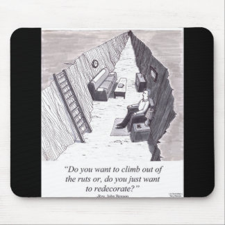 Stuck in a Rut Mouse Pad