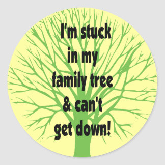 Stuck In My Family Tree Classic Round Sticker