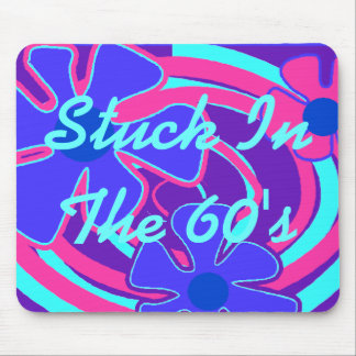 Stuck In The 60's ~ Flower Power Galaxy Mousepad