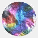 Stuck in the 70's - Disco Era Sparkles Round Sticker