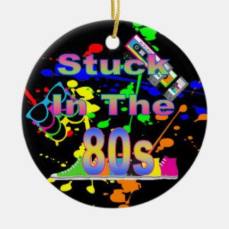 Stuck in the 80s ceramic ornament