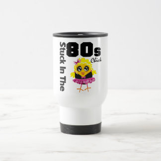 Stuck in the 80s Chick 15 Oz Stainless Steel Travel Mug