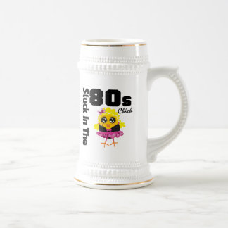 Stuck in the 80s Chick 18 Oz Beer Stein