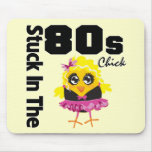 Stuck in the 80s Chick Mouse Pads