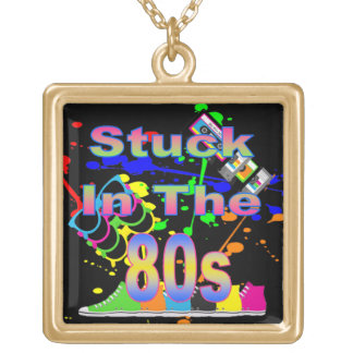 Stuck in the 80s gold plated necklace