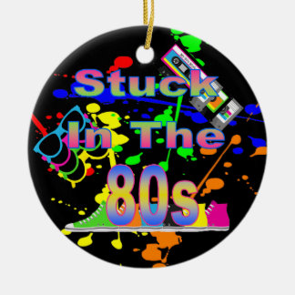 Stuck in the 80s christmas tree ornaments