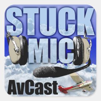 Stuck Mic AvCast Sticker