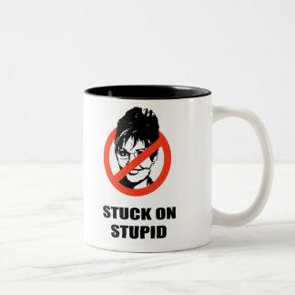Stuck on Stupid Two-Tone Coffee Mug