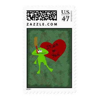 Stuck on You Valentine Postage