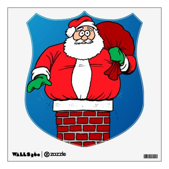 Stuck Santa (Customize it!) Wall Decal