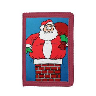 Stuck Santa Customize it Trifold Wallets