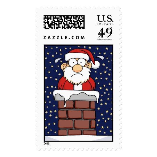 Stuck Santa Postage