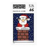 Stuck Santa Postage Stamps