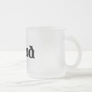 STUD 10 OZ FROSTED GLASS COFFEE MUG