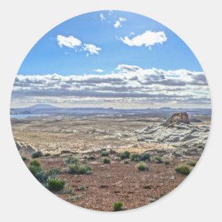 Stud horse point near lake Powell near Utah Classic Round Sticker