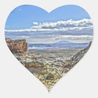 Stud horse point near lake Powell near Utah Heart Sticker