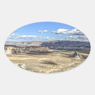 Stud horse point near lake Powell near Utah Oval Sticker