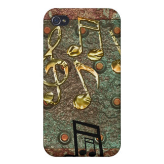 Stud Metal-effect Music-lover iPhone 4 Case