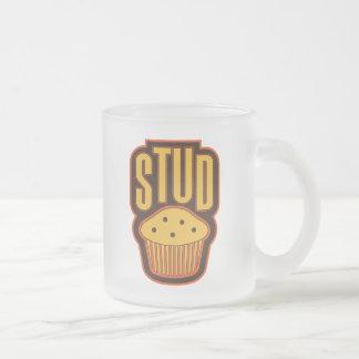 Stud Muffin 10 Oz Frosted Glass Coffee Mug