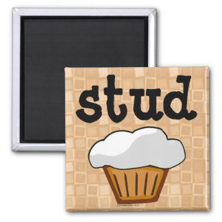 Stud Muffin 2 Inch Square Magnet