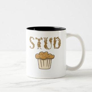 stud muffin bizarro Two-Tone coffee mug