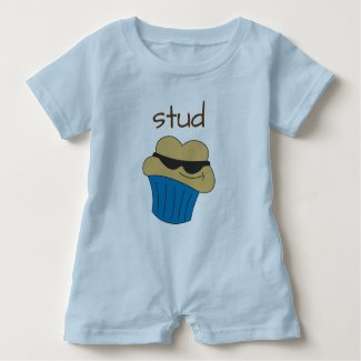 Stud Muffin Blue Baby Boy Romper