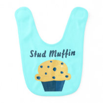 Stud Muffin Blueberry Muffin Baby Bib