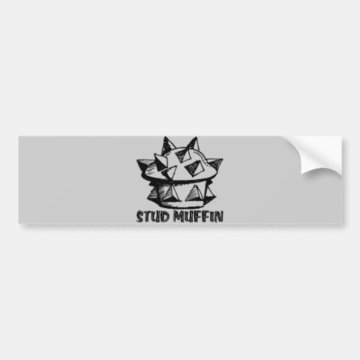 Stud Muffin Car Bumper Sticker