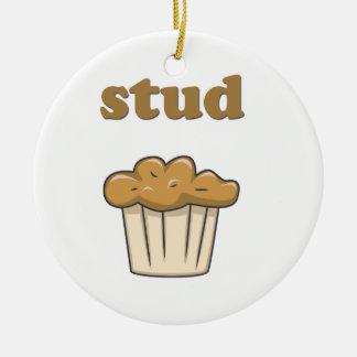 stud muffin ceramic ornament