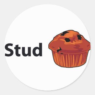 Stud Muffin Classic Round Sticker