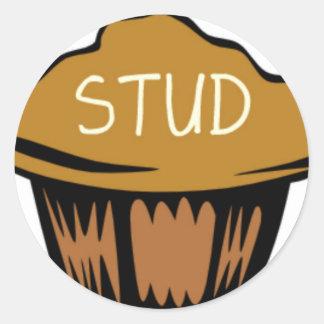 Stud Muffin Cute Classic Round Sticker