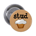 Stud Muffin, Cute Funny Baked Good 2 Inch Round Button