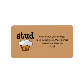 Stud Muffin, Cute Funny Baked Good Label