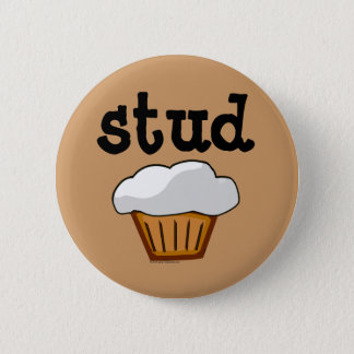 Stud Muffin, Cute Funny Baked Good Pinback Button