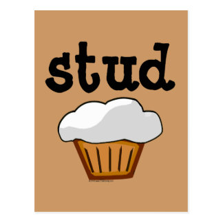 Stud Muffin, Cute Funny Baked Good Postcard