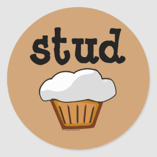 Stud Muffin, Cute Funny Baked Good Sticker