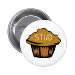 Stud Muffin Cute Pinback Buttons