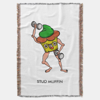 Stud Muffin Gentle Giant Funny Illustration Throw