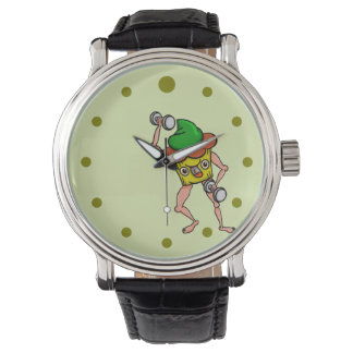 Stud Muffin Gentle Giant Funny Illustration Wristwatches