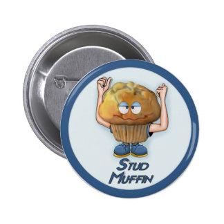 Stud Muffin Humor Button